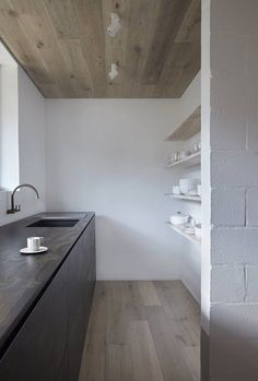+ Minimalistic Kitchen ... dark brown kitchen