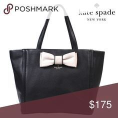 NWT KATE SPADE SHOSHANNA TOTE Stylish Soft leather tote with bow accent . BIG enough to hold laptop or tablet. kate spade Bags Totes