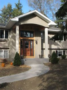 Bi level exterior remodel on pinterest split entry for Bi level house with front porch