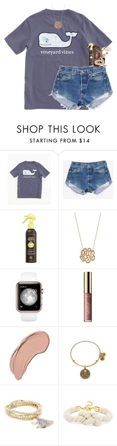 """today was exhausting!❥"" by classynsouthern ❤ liked on Polyvore featuring Vineyard Vines, Sun Bum, Ginette NY, Birkenstock, tarte, NYX, Alex and Ani, Sole Society and BaubleBar"