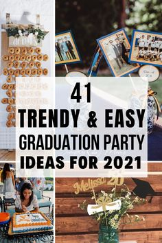i love these graduation party ideas!! i really want my grad party to stand out so im definitely copying some of these ideas