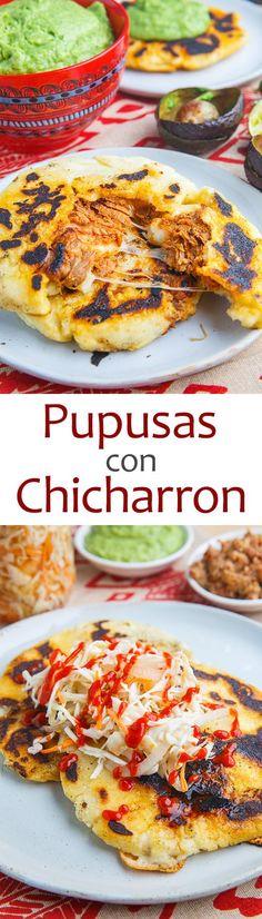 Pupusas de Chicharrón con Queso.. So these are not Mexican food  but sooooooo tasty! :)