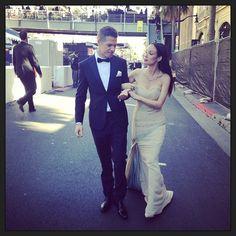 Ready for the Oscars! Most glamorous night... Dress: Rafael Cennamo Shoes: Prada Necklace: Solange