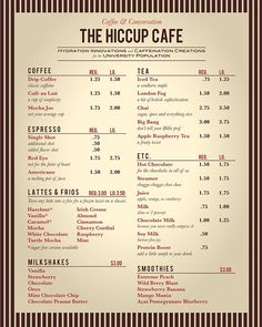 I designed a logo, menu board, and other materials for the coffee shop in my college's student center. Cafe Menu Design, Restaurant Menu Design, Coffee Shop Menu, Coffee Shops, Tea House Menu, Cafe Style, 3c, Iced Tea, Graphic Design Inspiration