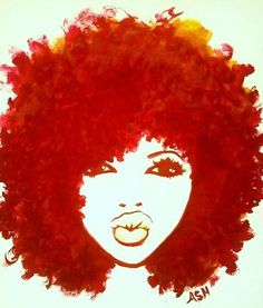 The gallery for --> African American Women With Afro Art Natural Hair Art, Pelo Natural, Natural Hair Styles, Natural Hair Quotes, Curly Hair Quotes, Natural Beauty, Pure Beauty, Art Afro Au Naturel, Afro Painting