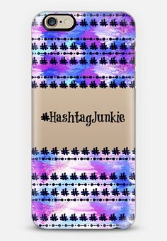 """Hashtag Junkie 2"" by Artist Julia Di Sano, Ebi Emporium on @casetify Fine Art Typography Quote Font #Hashtag Girly Pattern Pastel Ikat Purple Blue Calligraphy Colorful Modern Chic Stripe Design Transparent iPhone Tech Case #transparent #minimalist #typography #quote #internet #twitter #instagram #ikat #purple #pastelcolors #blue #lavender #techdevice #tech #iPhonecase #iPhone4 #iPhone5 #iPhone6 #chic #cellphone #cover #case Get $10 off using code: 5K7VFT"