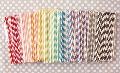 stripey straw party pack