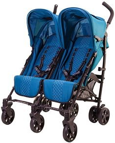 guzzie+Guss Twice Double Umbrella Stroller, Aqua - Works as you would expect.This guzzie+Guss that is ranked 139361 in the list of the top-selling products from Best Double Pram, Double Prams, Best Double Stroller, Used Strollers, Best Baby Strollers, Double Strollers, Baby Transport, Uppababy Stroller, Best Lightweight Stroller