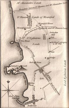 Montfode - 1769 MAP - Murder of Alexander Montgomerie - Wikipedia, the free encyclopedia William Wallace, Oak Island, Scottish Castles, My Ancestors, Map Art, Family History, Scotland, Vintage World Maps, Photographs