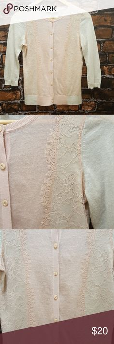 Lace cardigan by LOFT size XSP Extra small petite delicate light weight cardigan. Gorgeous! LOFT Tops