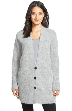 Free shipping and returns on Eileen Fisher Long V-Neck Cardigan at Nordstrom.com. An oversizedboyfriend cardigan feels exquisitely cozy in an Italian knit blended with soft wool andthe lofty fuzz ofmohair.