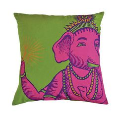Square Cushion Cover Lime