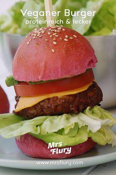 Veganer Hamburger Rezept Mrs Flury Protein Burger, Bratlinge, Pattie, flleischlos, vegan, pflanzlich, veganer Burger Rezept, gesund, ohne Fleisch, vegan BBQ, grillen, Veganer Burger, Proteinreich, viel Eiweiss, pflanzliches Eiweiss, gesunde Rezepte #burger #hamburger #vegan #mrsflury
