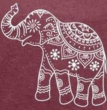 Indian elephant outline - could use as faux Batik design Indian Elephant Art, Henna Elephant, Elephant Outline, Elephant Tattoos, Indian Art, Elephant Henna Designs, Elephant Drawings, Elefant Design, Elefante Hindu