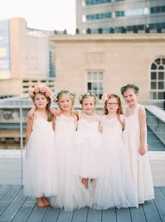 Five fab flower girls: http://www.stylemepretty.com/2015/04/16/will-you-be-my-flower-girl-shoot/   Photography: Nicole Berrett - http://www.berrettphotography.com/