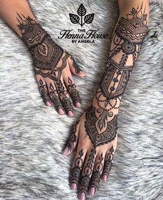 Pin For Trend Presented Henna Tattoo Designs Collection 2019 - Latest Henna Designs - Henna Ideas 2019 (Beautiful Henna Designs Henna Tattoo Hand, Henna Tatoos, Henna Body Art, Henna Mehndi, Mandala Tattoo, Full Body Henna, Tribal Hand Tattoos, Tattoo Owl, Tattoo Celtic