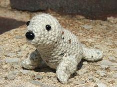 Please note: The front flippers should be sewn on so that they act as a support for the weight of the head. If you want them in a different position, you may want to put some weighted plastic beads (or dried beans) in the lower/tail end of the seal to make sure he doesn't fall on his nose.
