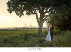 Alhambra Hall Wedding | Ravenel Bridge, Sea Glass Bridesmaid Dresses, KLM Events, On a Limb Floral, Ava Moore Photography