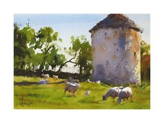 Andy Evansen Watercolors - The Pigeonnier