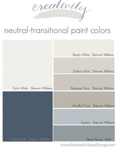 Simply White, Mindful Gray and Indigo Batik for kitchen palette Home Design Diy, Interior Design, Interior Colors, Home Exterior Colors, Beige House Exterior, Interior Color Schemes, Exterior Trim, Gray Interior, Wall Colors