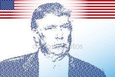 Stati Uniti - novembre 2016 - Donald Trump, candidato alla presidenza degli Stati Uniti damerica — Vettoriali Stock © frizio #129596330