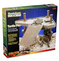 $17.95-$24.99 Reptology® Turtle Pier Floating Platform w/Ramp - Reptology® Turtle Pier provides your pet with a healthier, more natural environment while giving you a new way to interact with your aquatic pet. Sculpted in a traditional pier design, the Turtle Pier is great for turtles, frogs, newts & salamanders and is designed to give your pet a more natural aquatic environment while allowing yo ...