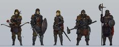 Medieval character concepts by KJKallio | Create your own roleplaying game books w/ RPG Bard: www.rpgbard.com | Pathfinder PFRPG Dungeons and Dragons ADND DND OGL d20 OSR OSRIC Warhammer 40000 40k Fantasy Roleplay WFRP Star Wars Exalted World of Darkness Dragon Age Iron Kingdoms Fate Core System Savage Worlds Shadowrun Dungeon Crawl Classics DCC Call of Cthulhu CoC Basic Role Playing BRP Traveller Battletech The One Ring TOR fantasy science fiction horror