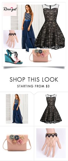 """Rosegal-Mesh Dress"" by melly-di ❤ liked on Polyvore"