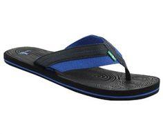 Sanuk Chase Flip Flop Sandals - Mens Black Navy