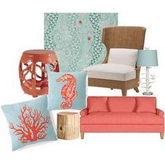 pretty beach cottage room decor