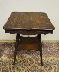 Antique Solid Quarter Sawn Tiger Oak 2 Tier Parlor Lamp Center Table by Just4you1 on Etsy https://www.etsy.com/listing/252278886/antique-solid-quarter-sawn-tiger-oak-2