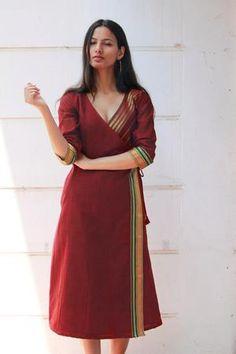 Simple Kurti Designs, Kurta Designs Women, Dress Indian Style, Indian Fashion Dresses, Dress Neck Designs, Blouse Designs, Recycled Dress, Frock For Women, Kurta Neck Design