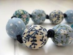 Fabric Covered Beads DIY