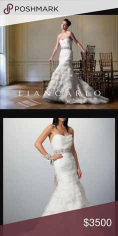Liancarlo designer wedding dress. Gorgeous designer wedding dress liancarlo Dresses Wedding