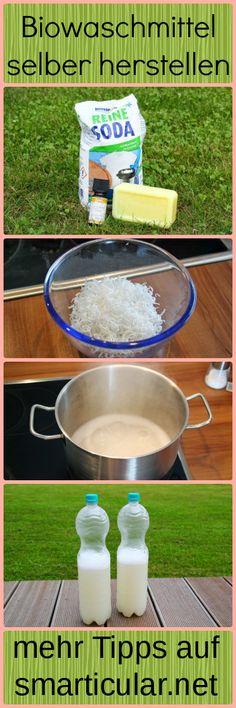 Biowaschmittel herstellen ist leicht, günstig und gut für die Umwelt. Probiere es aus!   #smarticular #waschmittel #diy #selbstgemacht