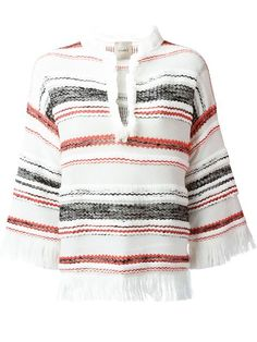 Nude striped knitted top
