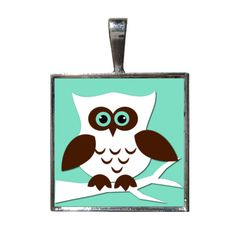 Owl Necklace Pendant with Chain included by LilyMod on Etsy, $9.00