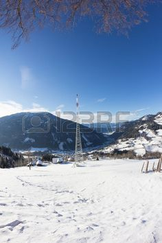 #Winter #Landscape #Broadcasting #Tower #Mitterberg #View To #Radenthein @123rf #123rf #nature #landscape #season #snow #mountains #austria #carinthia #bluesky #outdoor #stock #photo #portfolio #download #hires #royaltyfree