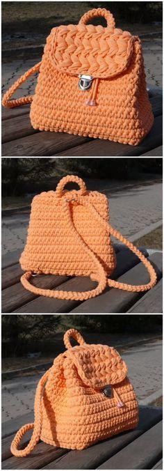 Crochet Easy Beautiful Backpack