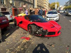 The driver splashed out $1.4 million on the luxury supercar – only to crash it just minutes later.