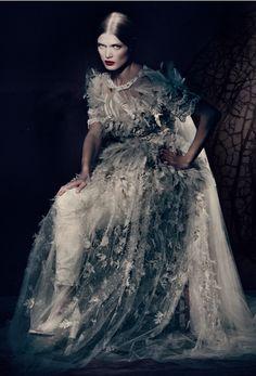 """""""Couture Allure""""  Malgosia Bela by Paolo Roversi for Vogue Italia March 2013."""