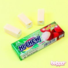 Hi-Chew candy (lychee)  http://www.blippo.com/hi-chew-chewing-candy-lychee.html