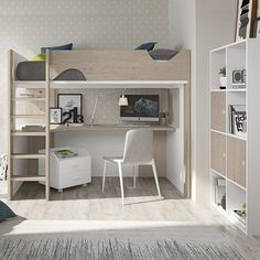 Loft Beds For Small Rooms, Loft Beds For Teens, Cool Loft Beds, Loft Bed Frame, Bedroom Setup, Room Design Bedroom, Girl Bedroom Designs, Teen Room Designs, Dream Rooms
