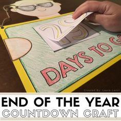 End of the Year Countdown Craft is a fun way to countdown the last few weeks of school. The rip off style countdown gives students the opportunity to show off some of the numbers they learned about this year every single day until the last day of school! End Of School Year, After School, Classroom Setup, Future Classroom, First Grade, Second Grade, School Countdown, Daily 3, Teachers Corner