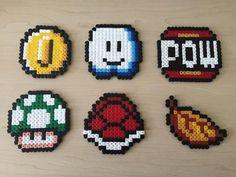 Super Mario items hama perler beads by BeadsByGeeks