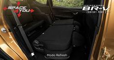 Modo Refresh: Configura los asientos de la segunda fila y obtén mayor comodidad. #InesperadaBRV  Con la tecnología exclusiva de Honda, Space4You, no tendrás límites para trasladar todo lo que necesites. Sus asientos configurables desde la segunda hasta la tercera fila, hacen de BR-V tu mejor aliada en cada viaje.