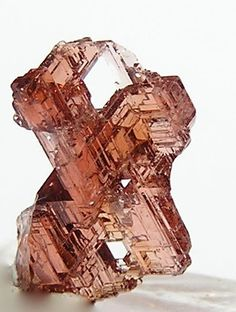 Red Spessartine Garnet Natural Etched Crystal