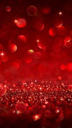 Red Sparkly Bokeh. Beautiful Glitter iPhone wallpapers Sparkle. Tap to check out more wallpapers. - @mobile9