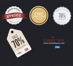 Tags and Badges PSD