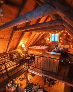 The loft/bedroom area // Cabin in Wisconsin - -You can find Log cabin furniture and more on our website.The loft/bedroom area // Cabin in Wisconsin - - Cabin Loft, Cozy Cabin, Cozy House, Winter Cabin, The Loft, Small Loft, Small Log Cabin, Log Cabin Homes, Log Cabins